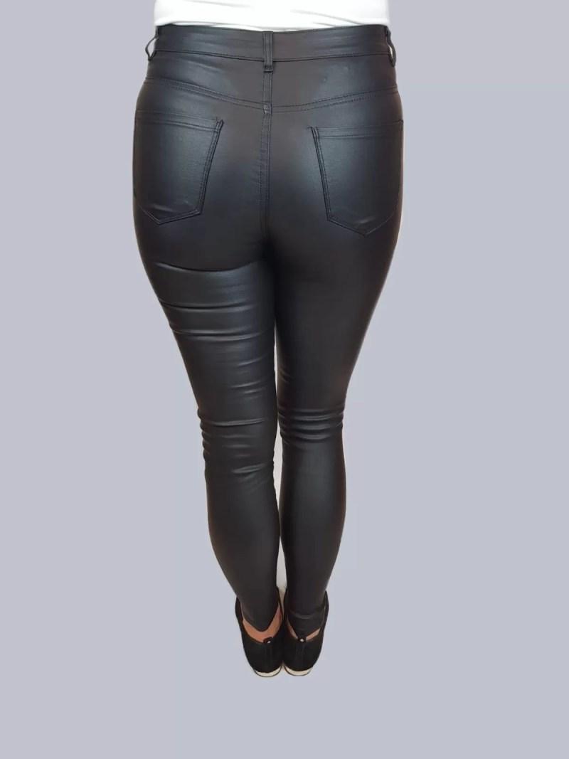 dames lakke zwarte leren broek