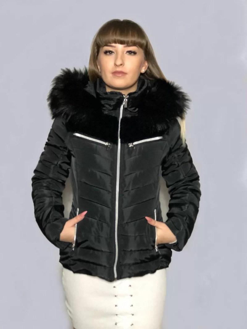 dames jas korte zwart