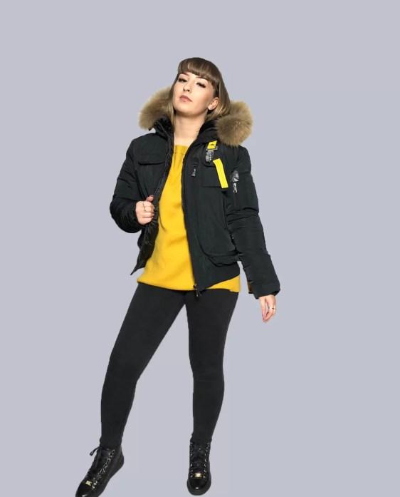 korte parajumper jas zwart