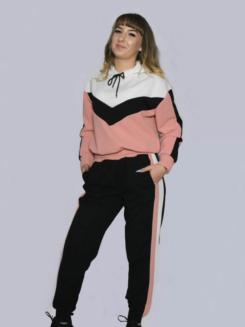 roze zwart 2 delig pak
