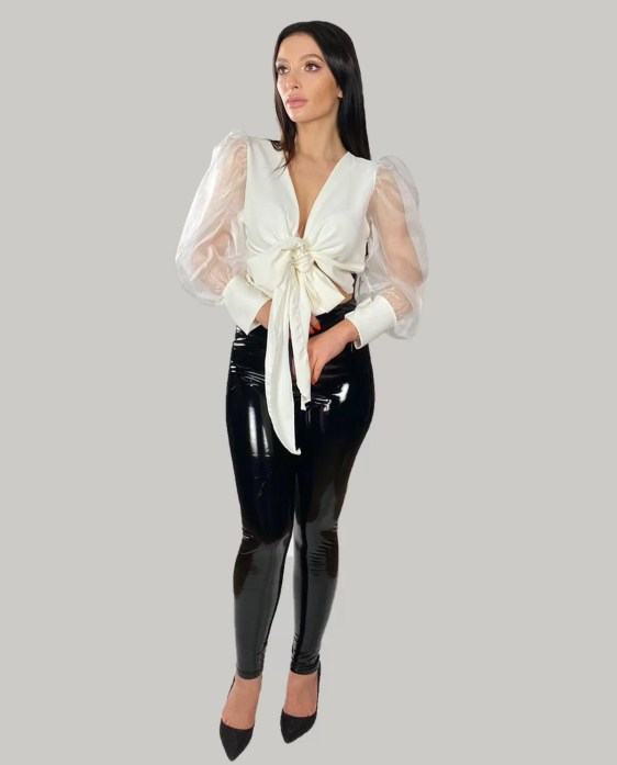 Immitatieleer-legging-broek