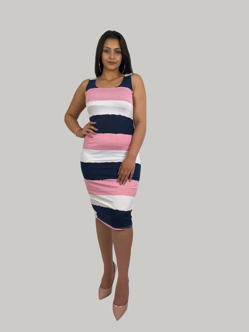 roze-wit-zwart-jurk