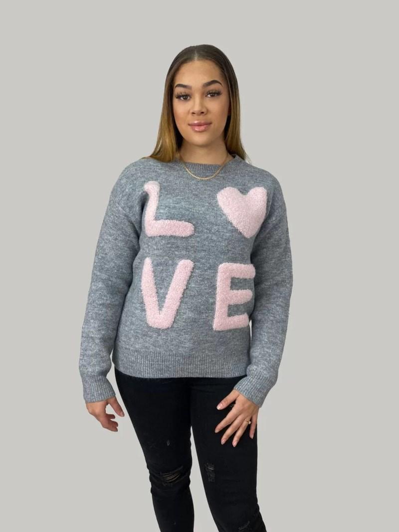NV 20 463 min Sweater Met Ontwerpen LOVE