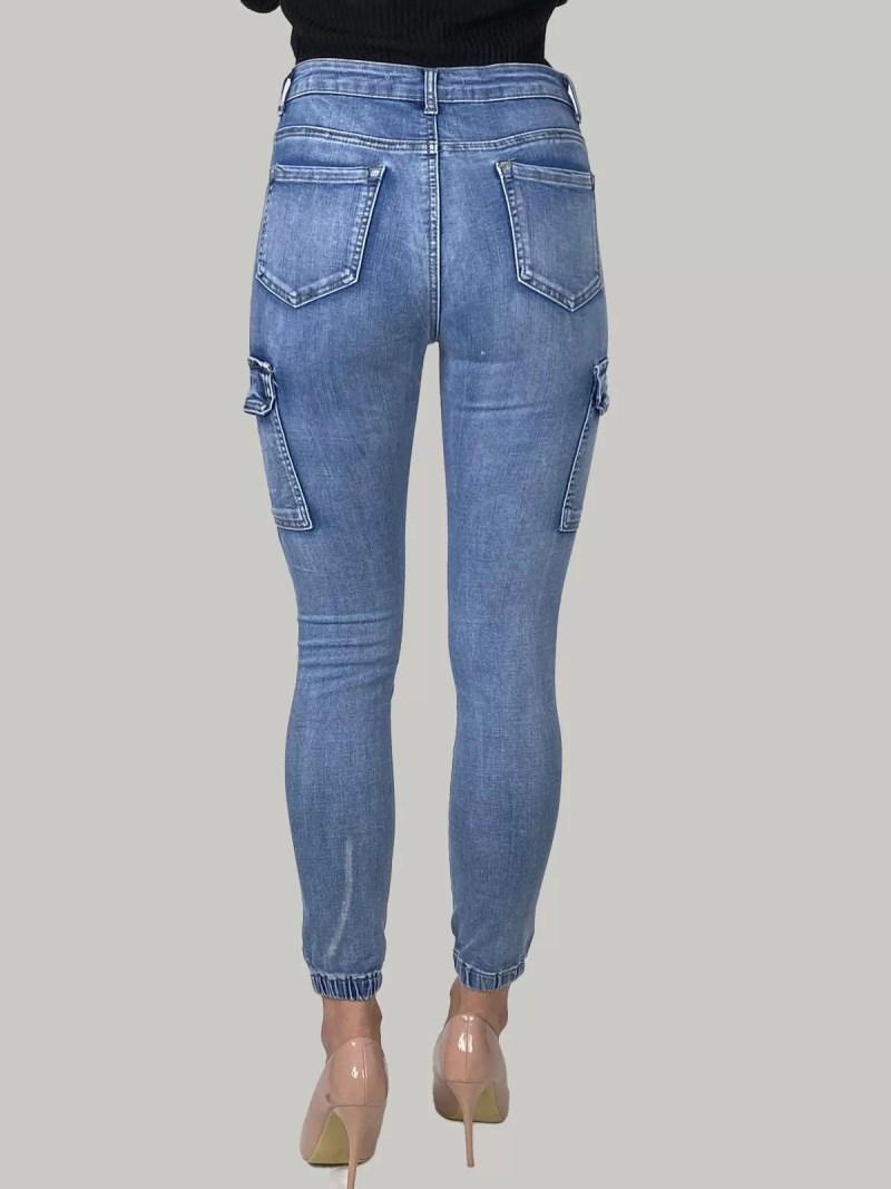 02 21 120 Cargo Skinny Jeans Voor Dames