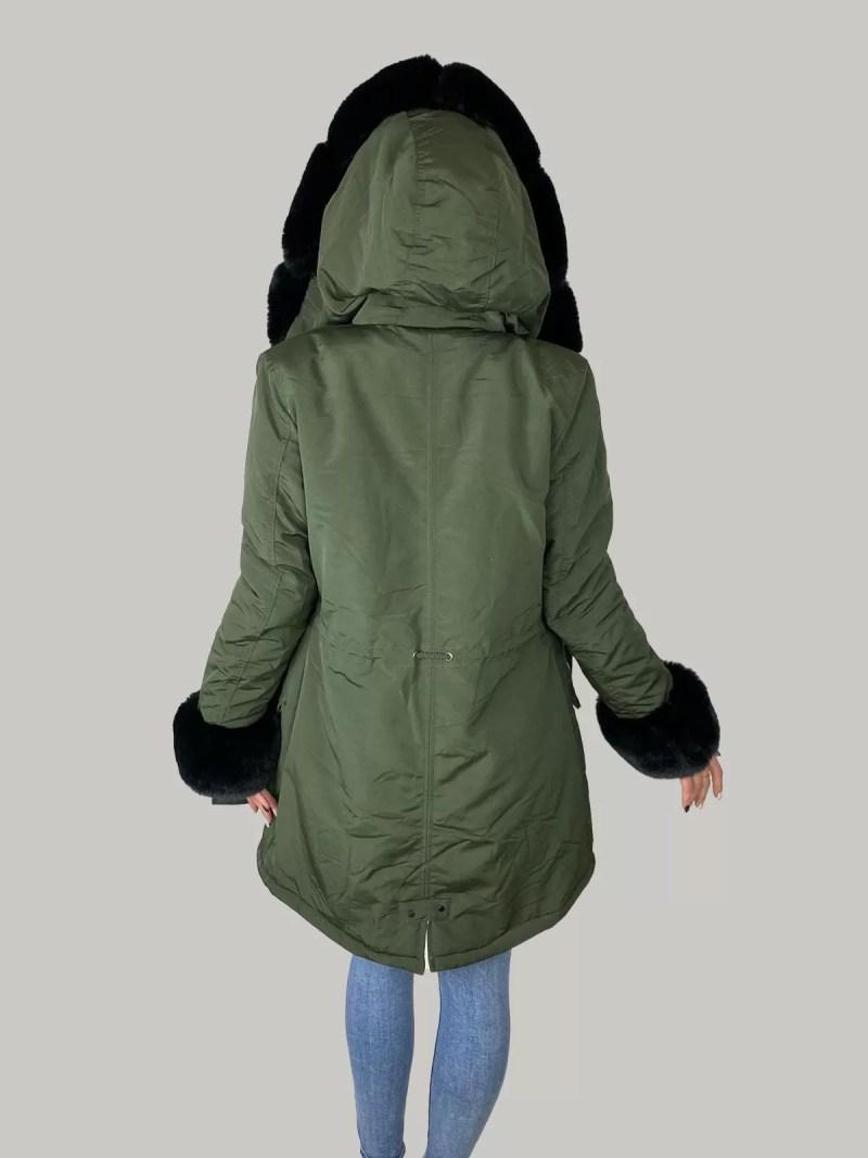 02 21 51 Furry Sleeve Jacket- Dames