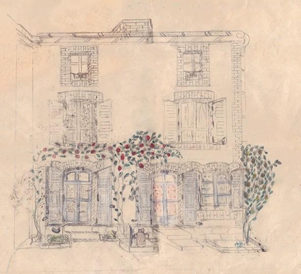 dessin d'enfant, maison,