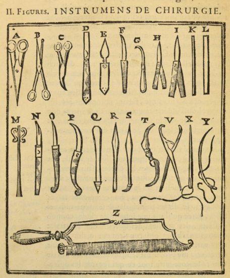 Instruments de chirurgie éd. 1716