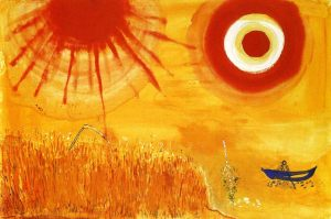 """A wheatfield on a summers afternoon"" By Marc Chagall, courtesy of MarcChagall.net"