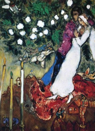 The Three Candles By Marc Chagall, courtesy of MarcChagall.net