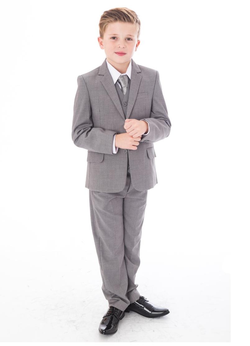 boys 5 piece suit in grey 9 months 14 years freddie