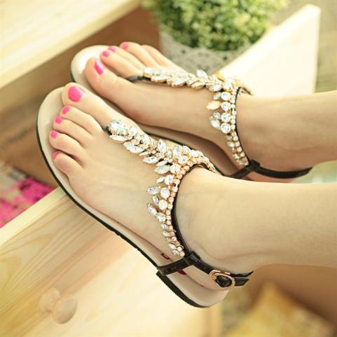 Discount-2013-summer-women-rhinestone-beading-flat-sandals-women-genuine-leather-flip-flop-sandals-female-sandals