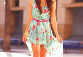78qkd5-l-610x610-dress-flower-pink-blue-floral-print-flowers-summer-turquise-ocean-belt-pink-belt-necklace-high-low-high-low-dresses-floral-pastel-bright-colors-green-cute-girly-floral-dress-assyme