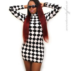 Long-Sleeve-Checkered-Dress-Front