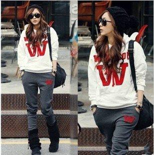 Free-Shipping-2012-Fall-Winter-Korea-Women-Sport-Wear-Sweatshirt-Set-Loose-Thicken-Fleeces-Hoodie-Long
