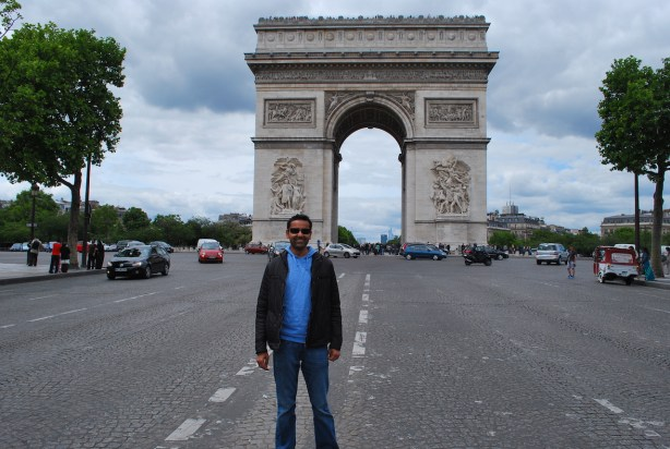 At Arc de Triomphe