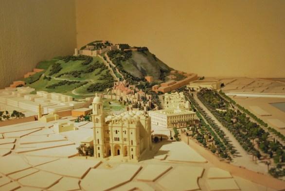 Malaga fort miniature