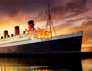 Queen Mary resting in Long Beach