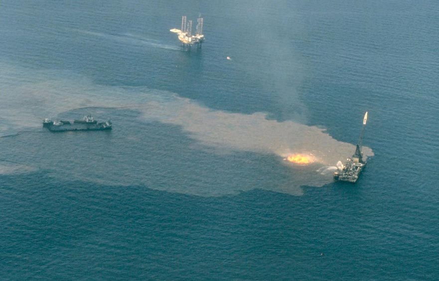 Ixtoc I – One of the largest oil slicks in history in the Gulf of Campeche