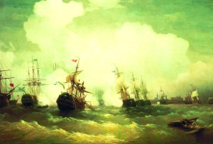 The naval Battle of Reval in Tallinn