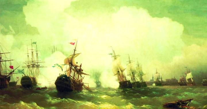 The naval Battle of Reval in Tallinn