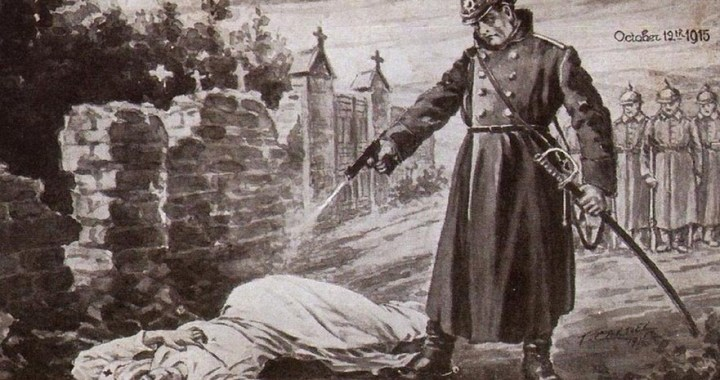 Edith Cavell – The nurse is being executed by firing squad in Brussels