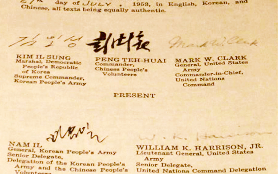 The Korean Armistice Agreement in Kaesŏng