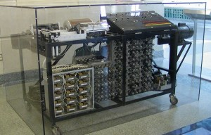 Atanasoff – Berry computer – The first automatic electronic digital computer is being exhibited in Ames