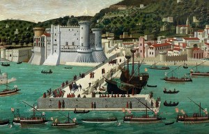 Castel Nuovo – The huge medieval castle in Naples