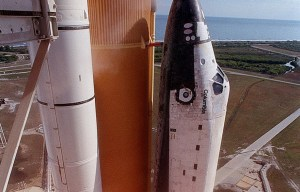 OV-102 Columbia – The flight deck windows of the historic space shuttle is being exhibited at the Kennedy Space Center in Titusville