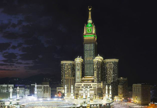 The Royal Clock Tower in Mecca