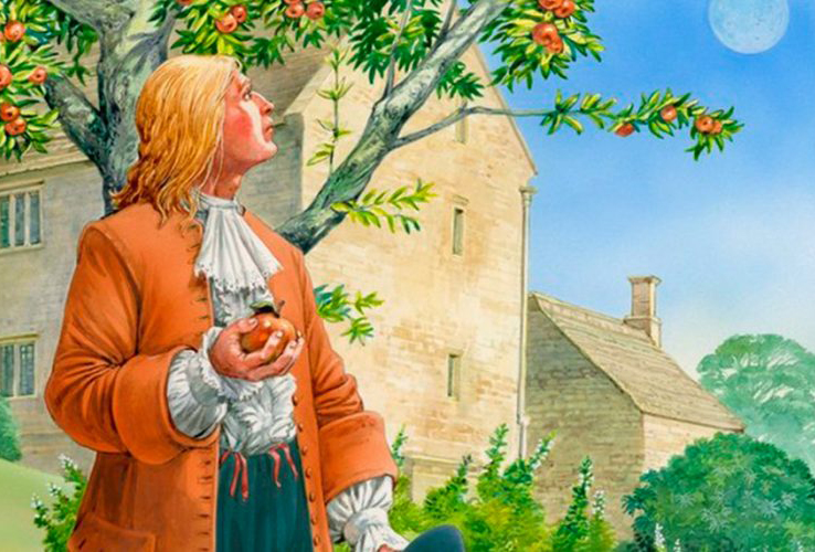 The Isaac Newton's apple tree in Woolsthorpe by Colsterworth