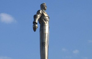 Monument to Yuri Gagarin – The world's first large-scale monument made of titanium in Moscow