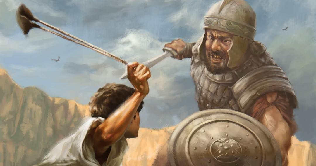 The Battle of David and Goliath in the Valley of Elah