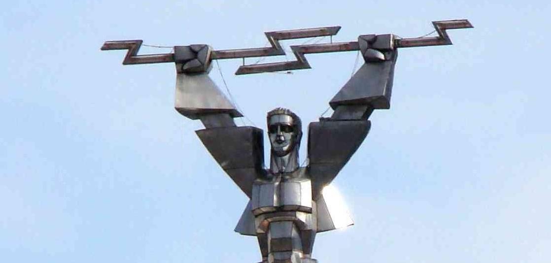 Prometheus –  The statue of the Greek Titan in Vidraru Dam