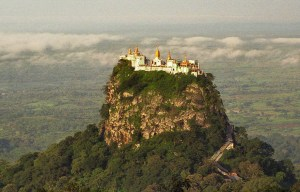 Taung Kalat – A Buddhist monastery and temple complex in Mount Popa