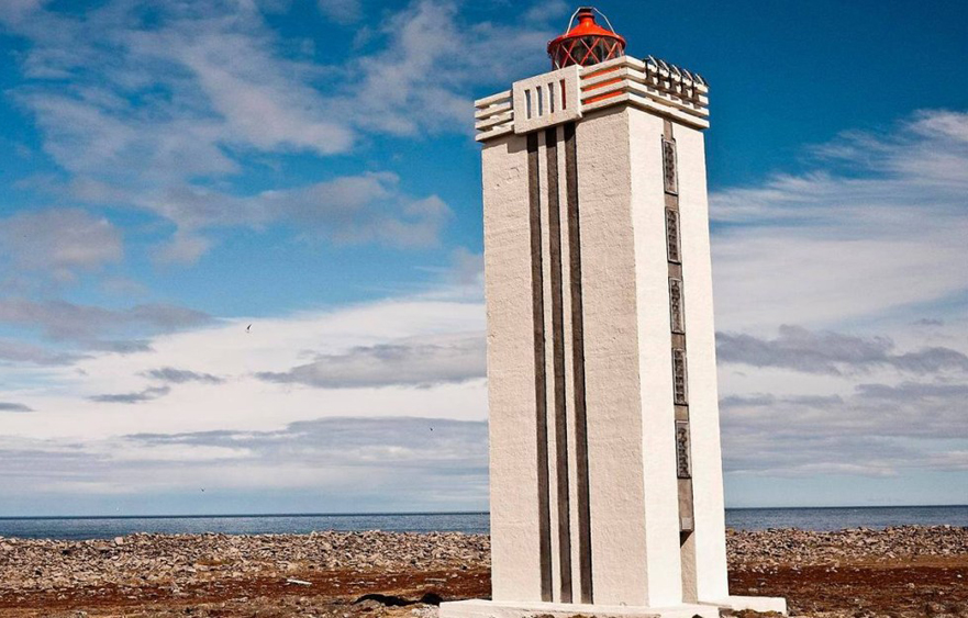 Hraunhafnartangi Lighthouse – One of the Northernmost Spots on the Mainland of Iceland in Raufarhöfn