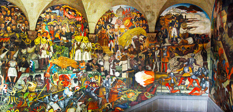 The History of Mexico – The Diego Rivera's mural in Mexico City