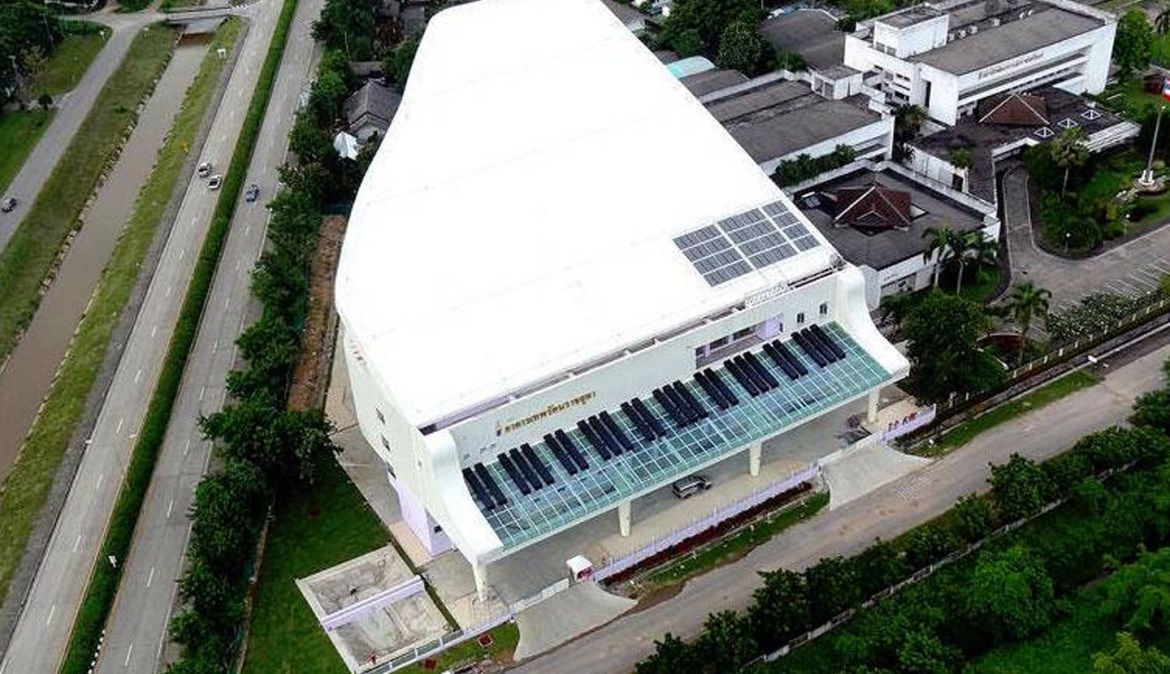 Rajanagarindra Institute of Child Development – The building shaped like a grand piano in Don Kaeo