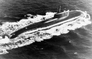 K-141 Kursk – The sail of the tragic submarine stands in Murmansk
