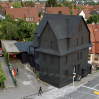 Haus in Schwarz - The black house once existed in Möhringen