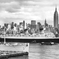 RMS Queen Elizabeth - The ocean liner rests peacefully in Hong Kong