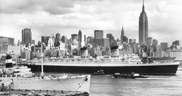RMS Queen Elizabeth – The ocean liner rests peacefully in Hong Kong