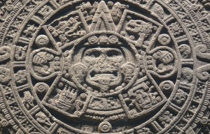 Aztec calendar – The Aztec sun stone is being exhibited in Mexico City