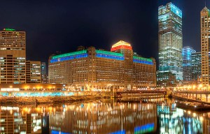 The Merchandise Mart – The giant two-block building in Chicago
