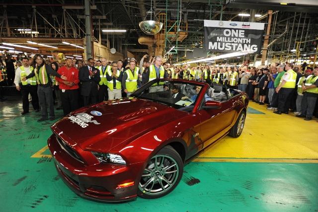 Ford celebra la producción del Mustang un millón  en su planta de Flat Rock