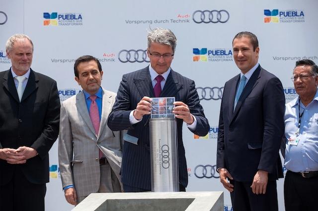 Audi AG coloca la primera piedra para la nueva planta en San José Chiapa, México