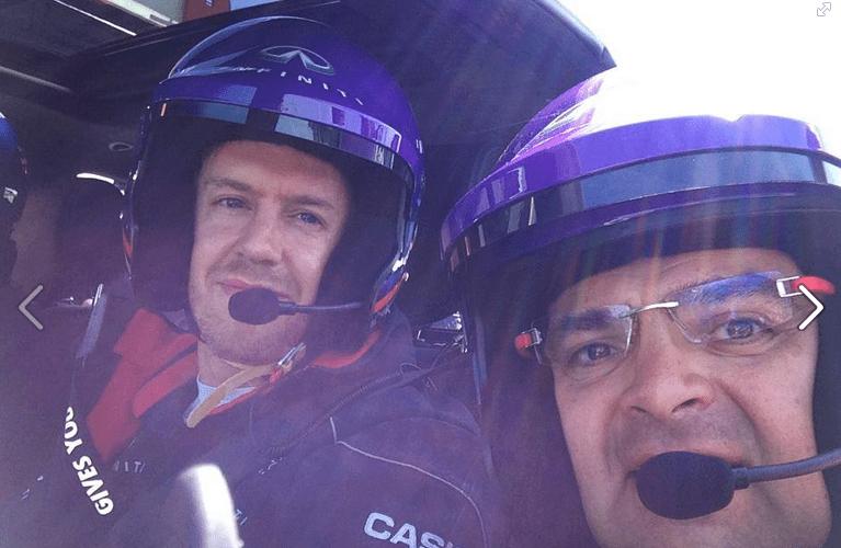 Vettel enseña a memolira.com su rol de director de desempeño en Infiniti