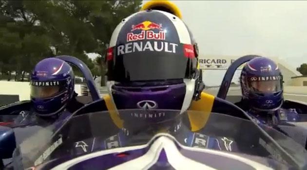 Un día relajado en el equipo Infiniti Red Bull