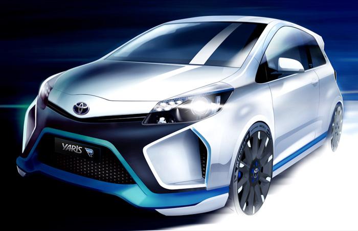 """Yaris, el """"superhíbrido"""" de Toyota, 4 motores = 420 hp"""