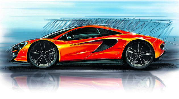 Boceto oficial del próximo McLaren P13